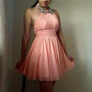 Jodi Kristopher Blush Chiffon Dress